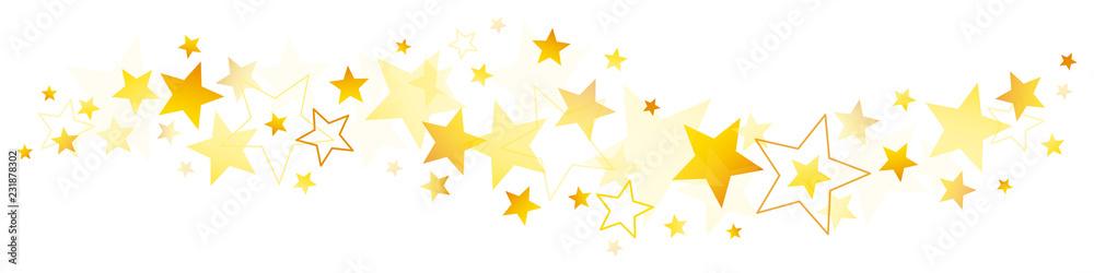 Fototapeta Christmas Stars Golden