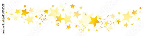 Fotografía Christmas Stars Golden