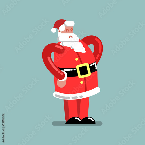 Fotobehang Indiërs Santa standing with hands on belt