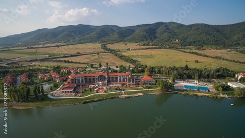 Spoed Foto op Canvas Zuid-Amerika land Aerial view of Riu Pravets golf reosrt, Pravets, Bulgaria, 1 September 2018