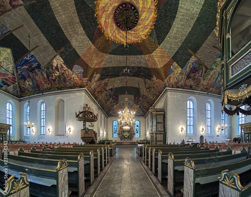Fotografie, Obraz  Interior of Oslo Cathedral, Norway