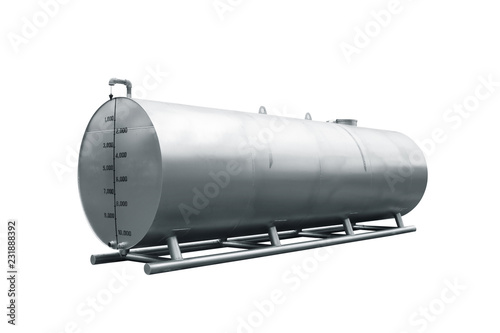 Photo  Oil tank, isolated on white
