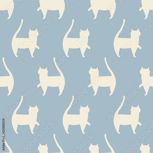obraz PCV seamless cat pattern