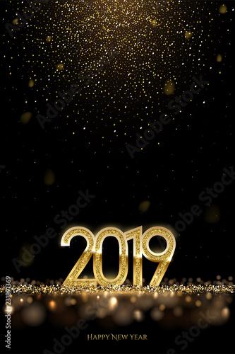 Fotografia  2019 New Year luxury design concept