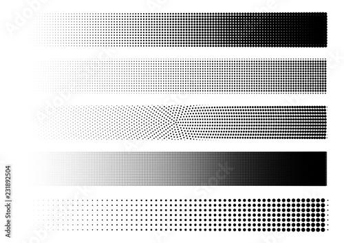 Streifen mit verschiedenen Halbtonraster Fototapet