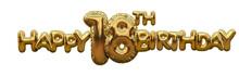 Happy 18th Birthday Gold Foil ...