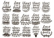 Set Of 15 Hand Lettering Quote...