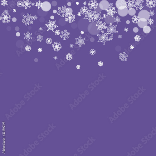 Winter Frame With Ultraviolet Snowflakes New Year Snowy Backdrop Snow Border For Gift Coupons Vouchers Ads Party Events Christmas Trendy Background Holiday Banner With Winter Frame Buy This Stock Vector And