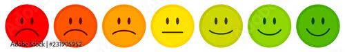 Fotografie, Obraz 7 Color Faces Feedback/Mood