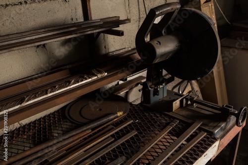 Metal cutter machine in factory