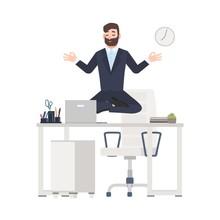 Bearded Man Or Office Worker D...