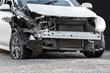 Damaged crash car
