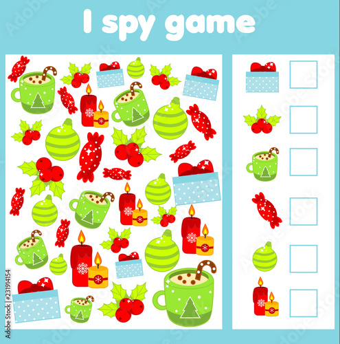 Stampa su Tela  I spy game for toddlers