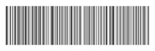 Horizontal Black Bar Code On W...