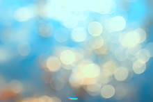 Bokeh Water Glare / Blurred Background, Round Glare On The Water Surface, Background River