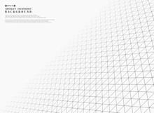 Futuristic Gray Triangles Geometric Pattern Cover Background.
