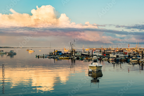 Sunset at Provincetown Marina