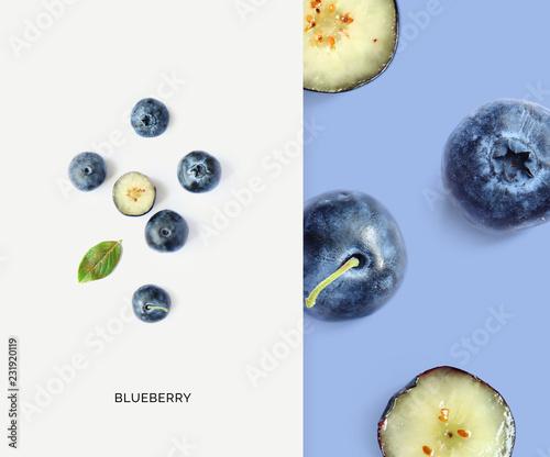 Fotografia Creative layout made of blueberry