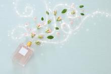 Top View Image Of Perfume Bott...