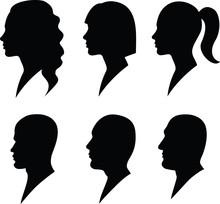 Face To Profile Male And Female