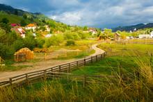View Of Village Sadova, Romania