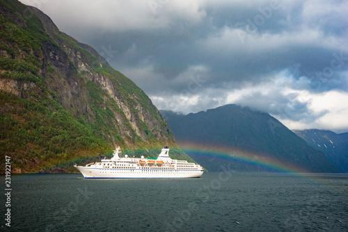 Photo Cruise ship sailing on Norwegian sea