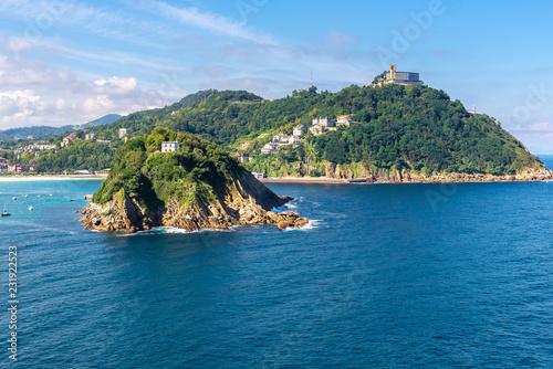 Bay of San Sebastian from Urgull Mountain, Basque Country, Spain