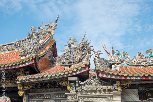 Foto op Aluminium Bedehuis Traditional architecture of ancient chinese temple in Taiwan