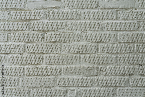Fotografie, Obraz  Brick wall painted in bright gray color