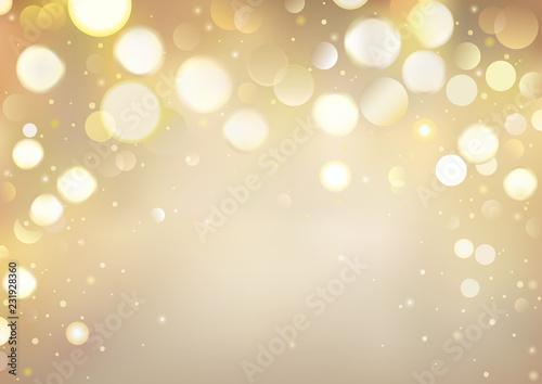 Golden Bokeh Background with Sparkling Lights - Festive Illustration for Your Me Canvas-taulu