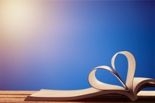 Book Heart Beach Love Outdoor Literature Decoration