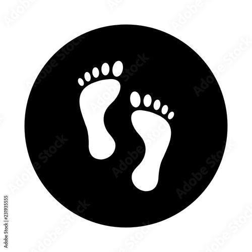 Fototapeta  stopy ikona