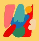 Bright Abstraction with Different Figures - 231944920