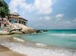 Tropical beach of resort