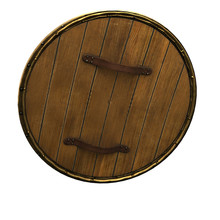 Old Wooden Vikings' Shield Iso...