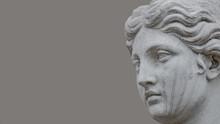 Ancient Statue Of Sensual Italian Renaissance Era Woman, Potsdam, Germany, Details, Closeup