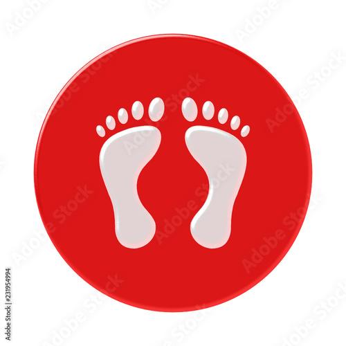 Obraz na plátně stopy ikona