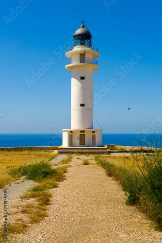 Foto op Aluminium Vuurtoren Vertical view of Cap de Barbaria lighthouse