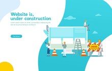 Website Is Under Construction Vector Illustration Concept, Developer Fixing Website Can Use For, Landing Page, Template, Ui, Web, Mobile App, Poster, Banner, Flyer