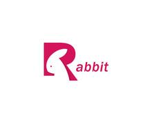 Rabbit Letter R Design Logo