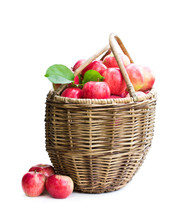 Big Basket Full Of Fresh Apple...