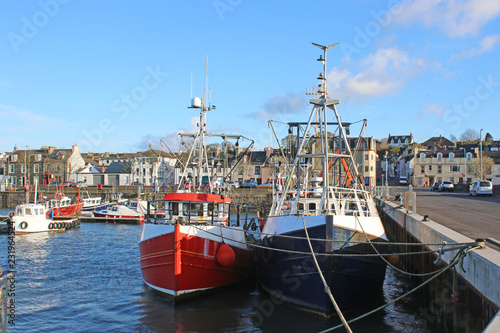 Fishing boats in Stranraer Harbour, Scotland