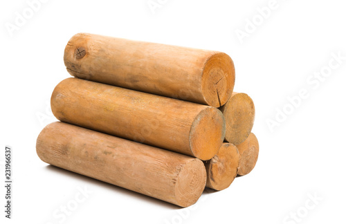 logs isolated Poster Mural XXL