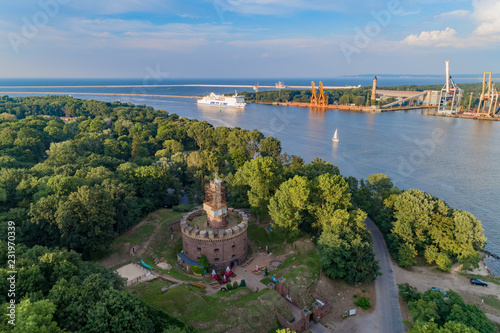 Harbour in Świnoujście aerial view