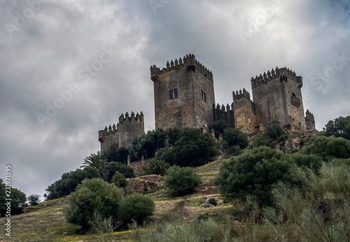Fotobehang Kasteel Castle of Almodovar del Rio, It is a fortitude of Moslem origin,a Stage of the American producer HBO, for the series Game of Thrones, take in Almodovar del Rio, Spain