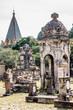 view of the big and small tombs of the cemetery of Belen in Guadalajara Mexico, copy space, travel, halloween concept