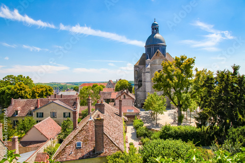 Obraz View on the Center of Provins, Seaine et Marne, France - fototapety do salonu
