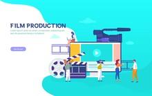 Film Production Vector Illustr...