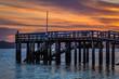 dusk at jetty