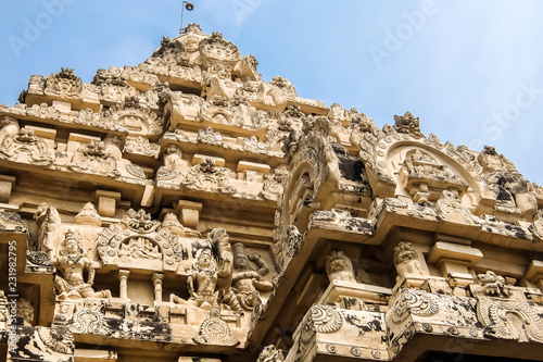 Spoed Foto op Canvas Oude gebouw View of Kailasanathar Temple in Kanchipuram, India.